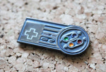 NES & SNES Control Pad Hybrid Metal Pin Badge