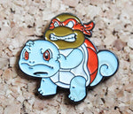 Raphael Squirtle Pokemon/TMNT Crossover Pin