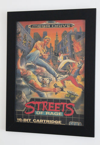 Vintage Style A3 Poster - Streets of Rage Mega Drive Cover
