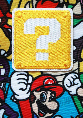 Super Mario Question Block - Embroidered Patch