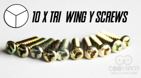 Tri Wing 'Y' Screws for Game Boy/Colour/Advance - Set of 10