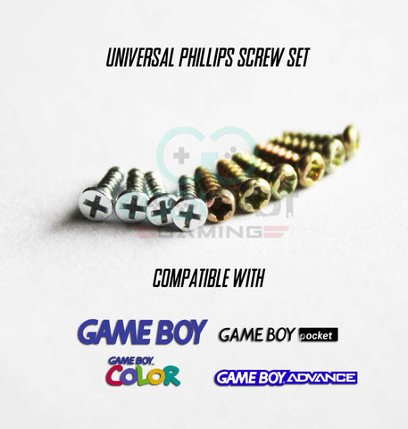 Universal Screw Set for Game Boy Advance / Colour / DMG / Pocket