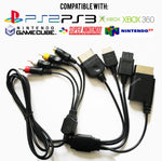 Universal Multi AV & S-Video Cable for PS1/PS2/PS3/GameCube/SNES/N64/Xbox/Xbox 360
