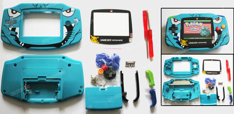 Game Boy Advance (GBA) Complete Housing Shell Kit - Custom Venusaur Design