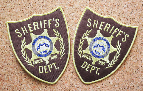 Walking Dead Sheriff's Department Embroidery Iron on/Sew on Patch