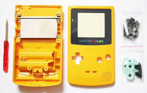 Game Boy Colour Replacement Housing Shell Kit - Yellow