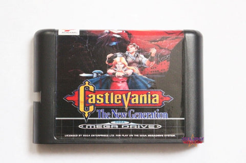 Castlevania: Bloodlines/The New Generation - Mega Drive/Genesis Game - Reproduction