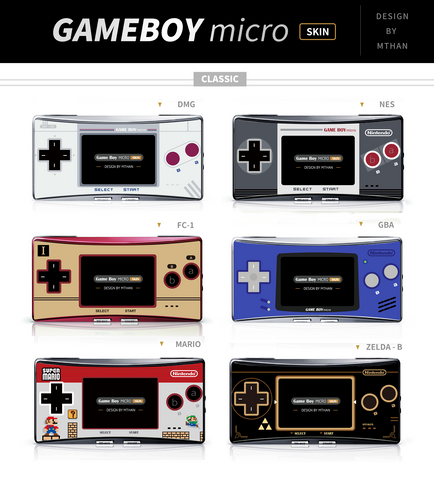 Custom Game Boy Micro Faceplate Skins-Cool Spot Gaming-Cool Spot Gaming