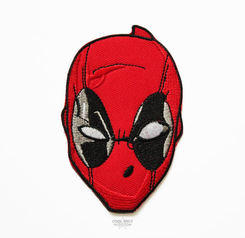 Deadpool Mask Embroidery Iron on/Sew on Patch (6cm x 9cm)-Embroidery Patch-Cool Spot's Gaming Emporium-Cool Spot Gaming