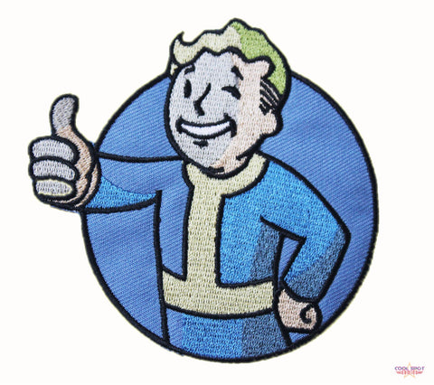 Fallout Vault Boy (Design #2) Embroidery Patch-Cool Spot's Gaming Emporium-Cool Spot Gaming