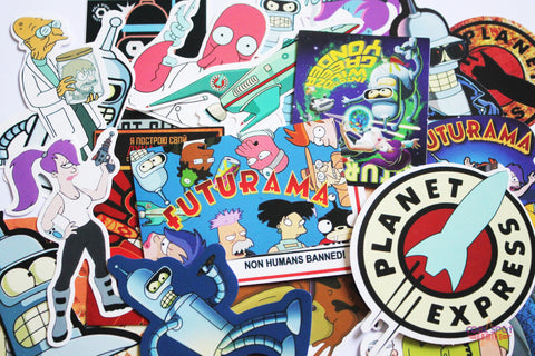 Futurama 23 Piece PVC Sticker Set