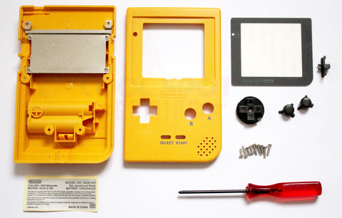 Game Boy Pocket Replacement Housing Shell Kit - Yellow