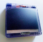 Game Boy Advance SP IPS V2 Console - Clear Purple (+ Adjustable Brightness)