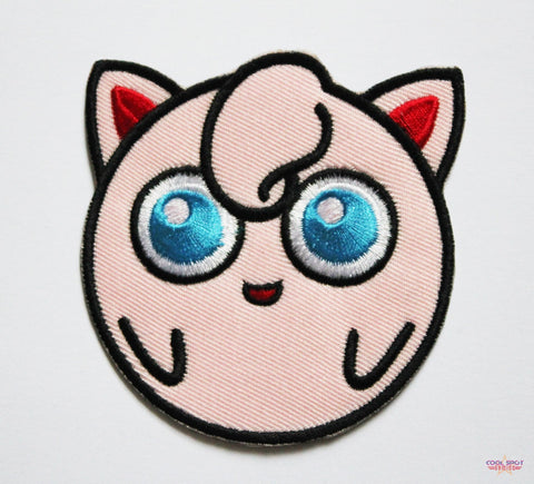 Jigglypuff Pokemon Embroidery Patch (7cm x 8cm)-Embroidery Patch-Cool Spot's Gaming Emporium-Cool Spot Gaming