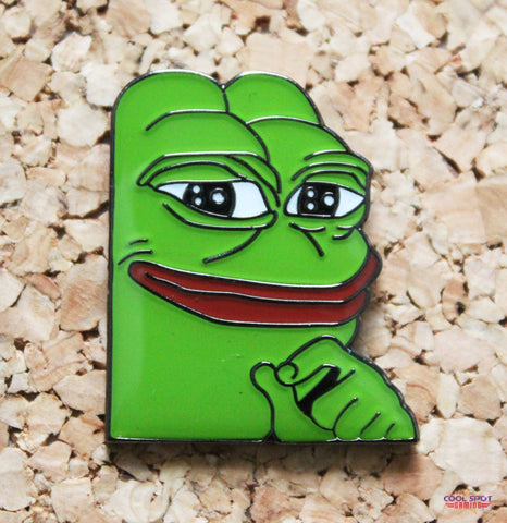 Pepe the Frog - Smug Face - Enamel Pin Badge-Cool Spot Gaming-Cool Spot Gaming
