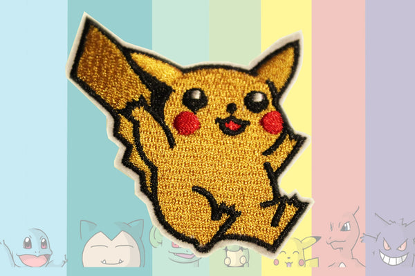 Pikachu Embroidery Patch (6cm x 8cm)-Cool Spot's Gaming Emporium-Cool Spot Gaming
