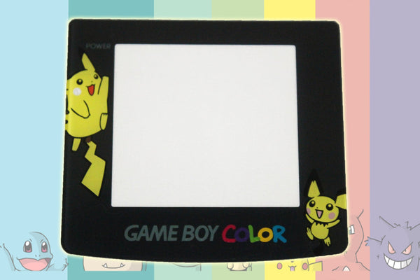 Pokemon themed Game Boy Colour New Replacement Screen