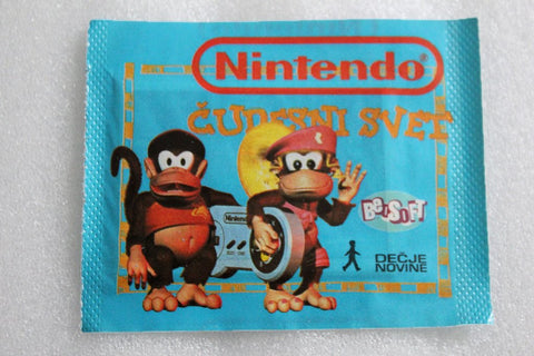 Retro 1990's Yugoslavian Nintendo Stickers - Sealed Packet