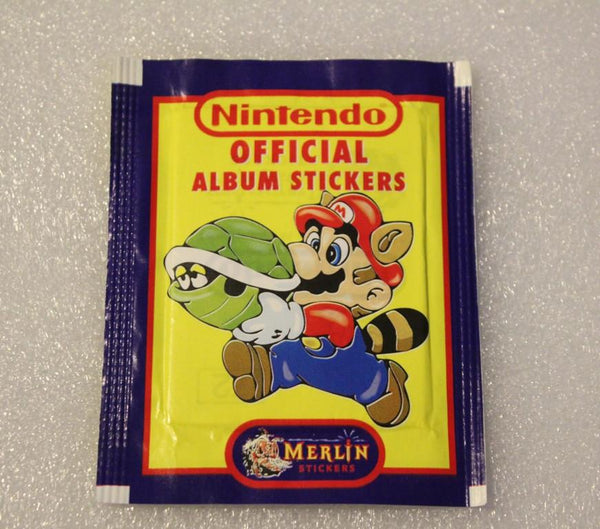 Retro Nintendo Merlin Stickers (1992) Sealed Packet