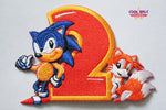 Sonic and Tails (Sonic the Hedgehog 2) Embroidery Patch (7.5cm x 10cm)-Embroidery Patch-Cool Spot's Gaming Emporium-Cool Spot Gaming