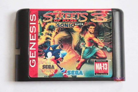 Sonic the Hedgehog in Streets of Rage 3 - Mega Drive Game (NTSC-US)