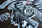 Sons of Anarchy 13 Piece Large Embroidered Patch Set (SAMCRO)
