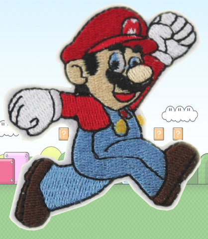Super Mario Embroidery Iron on/Sew on Patch-Cool Spot's Gaming Emporium-Cool Spot Gaming