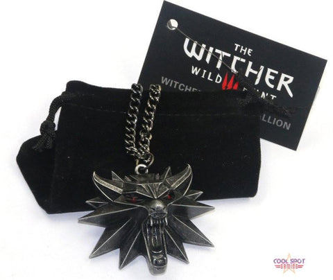 The Witcher 3: Wild Hunt - Witcher Wolf Medallion Pendant/Necklace-Cool Spot's Gaming Emporium-Cool Spot Gaming