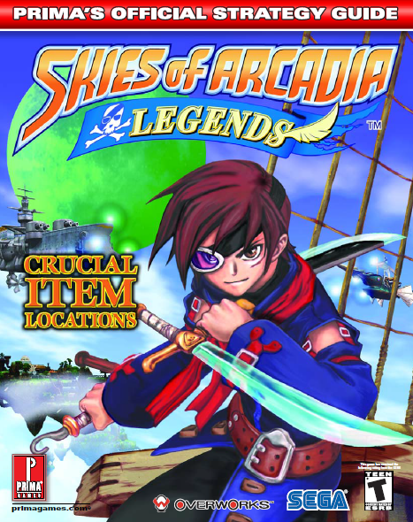 Skies of Arcadia Legends (DC & GC) - Prima Strategy Guide 2003