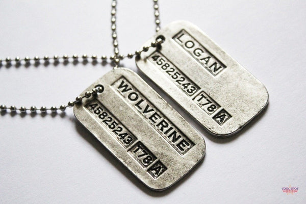 Wolverine Double-Sided Dog Tag Pendant Necklace