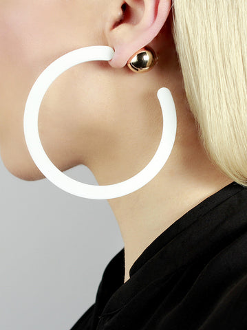 Casiopea White Geometric Earrings