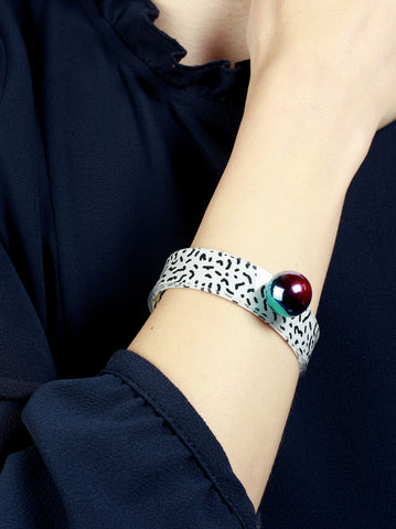 Vulpecula Memphis Pattern Soft Flexible Bracelet