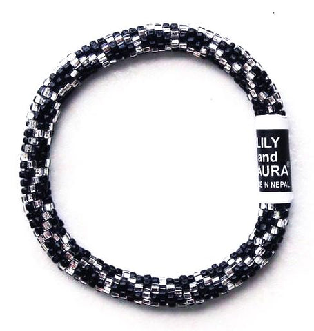 Black and Silver Chain Link
