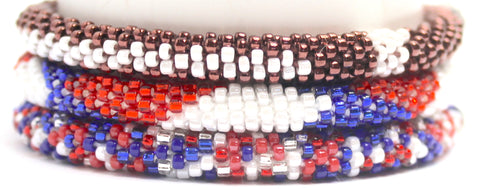Red and Blue Football Stack