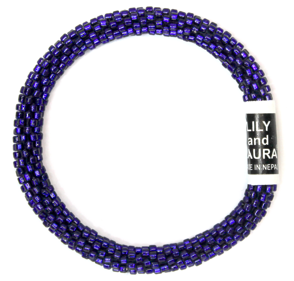 Lily and Laura Navy Blue Round Solid