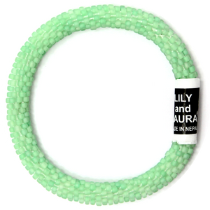 Matte Green Mint with White Thread
