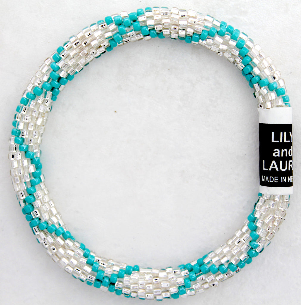 Turquoise Criss Cross On Silver
