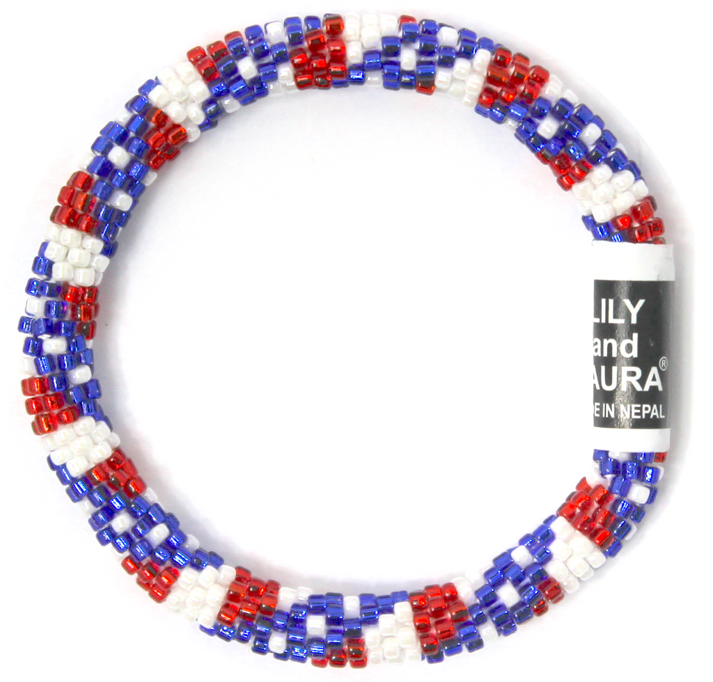 "8"" Extended Size Lily and Laura Patriotic Heartbeat"