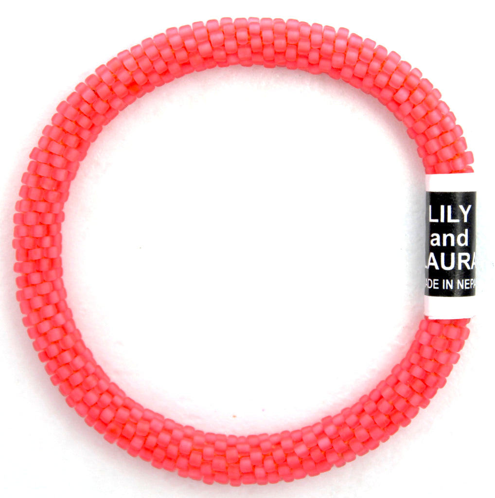 Lily and Laura Matte Neon Pink Coral Solid