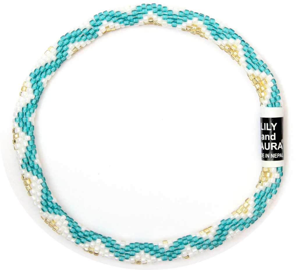 Teal Wave Anklet