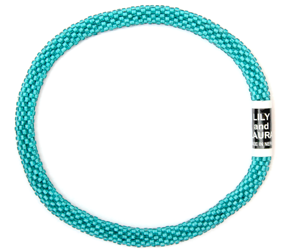 Clear Blue Teal Anklet