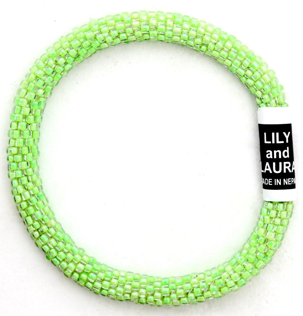 Lily and Laura Clear Neon Green Solid