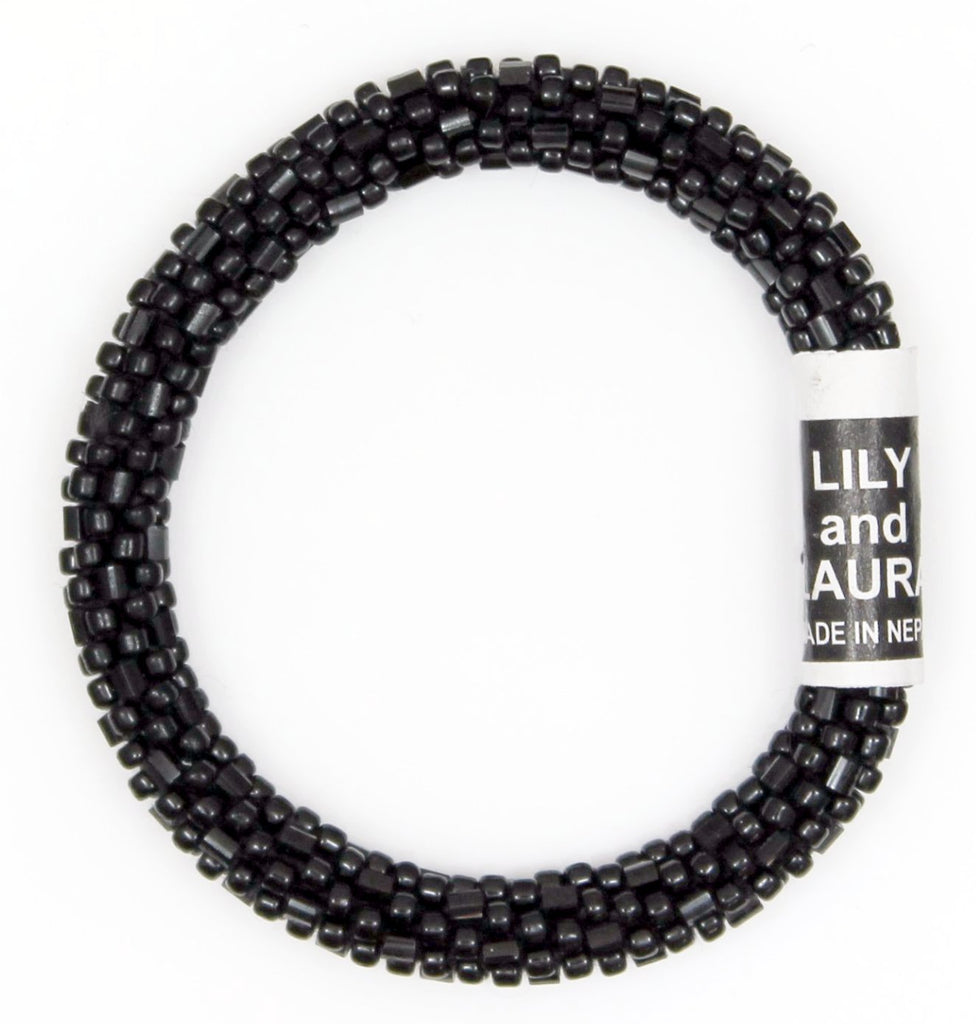 Lily and Laura Black Cut and Round Bead Mini