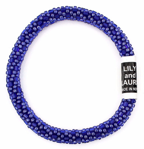 Clear and Luster Royal Blue Cut and Round