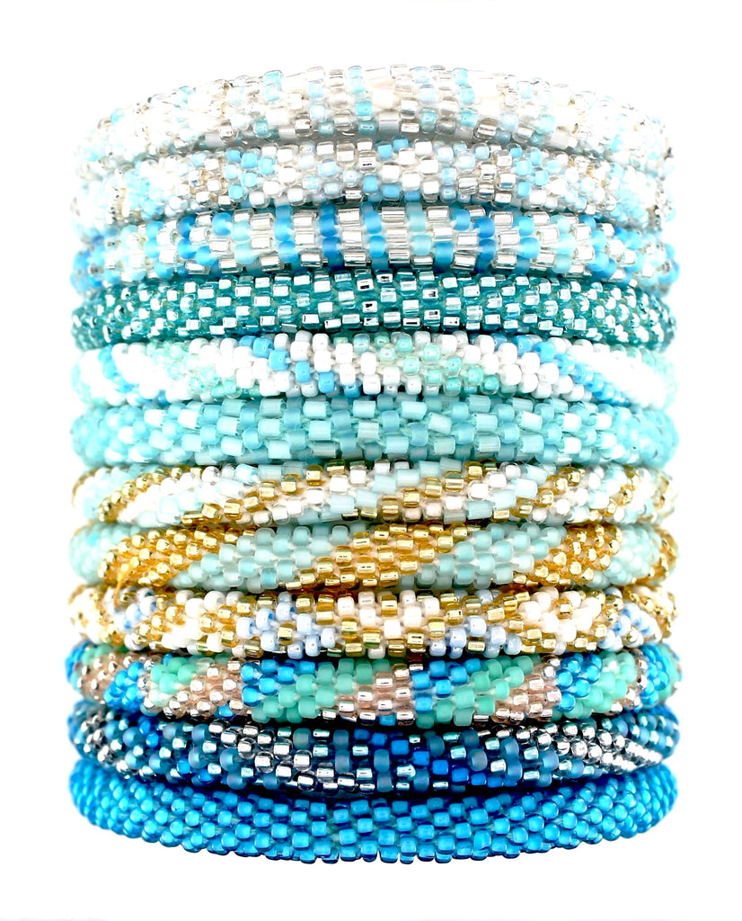 Light Ocean and Sky Blue Assortment of 12