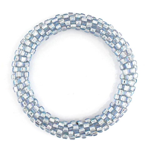Lily and Laura Icy Blue Rainbow Mega Bead