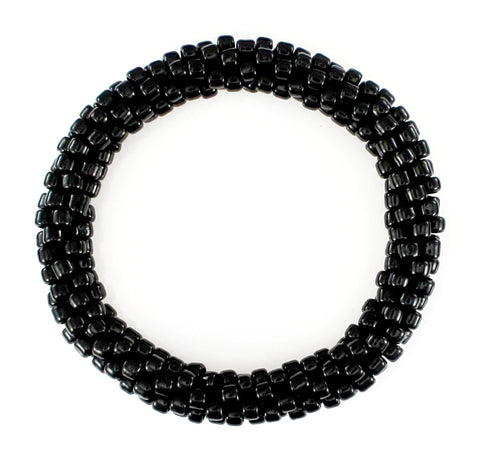 Lily and Laura Solid Black Mega Bead