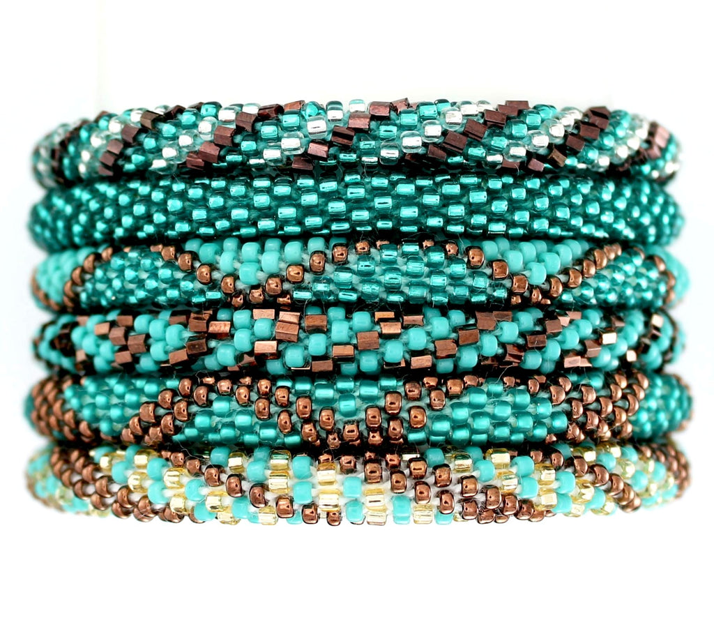 Teal and Copper Assortment of 6