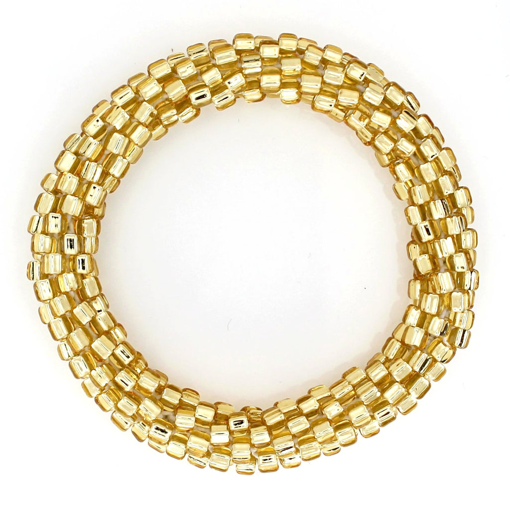 Lily and Laura Solid Gold Mega Bead