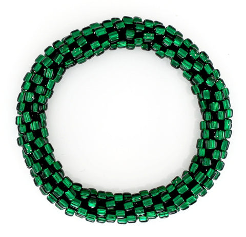 Lily and Laura Forest Green Solid Mega Bead